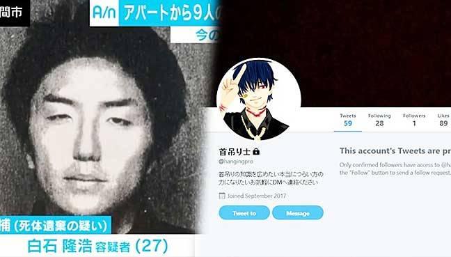 Pembunuh Berantai Berjuluk 'Twitter Killer' Asal Jepang Divonis Mati -  TIKTAK.ID